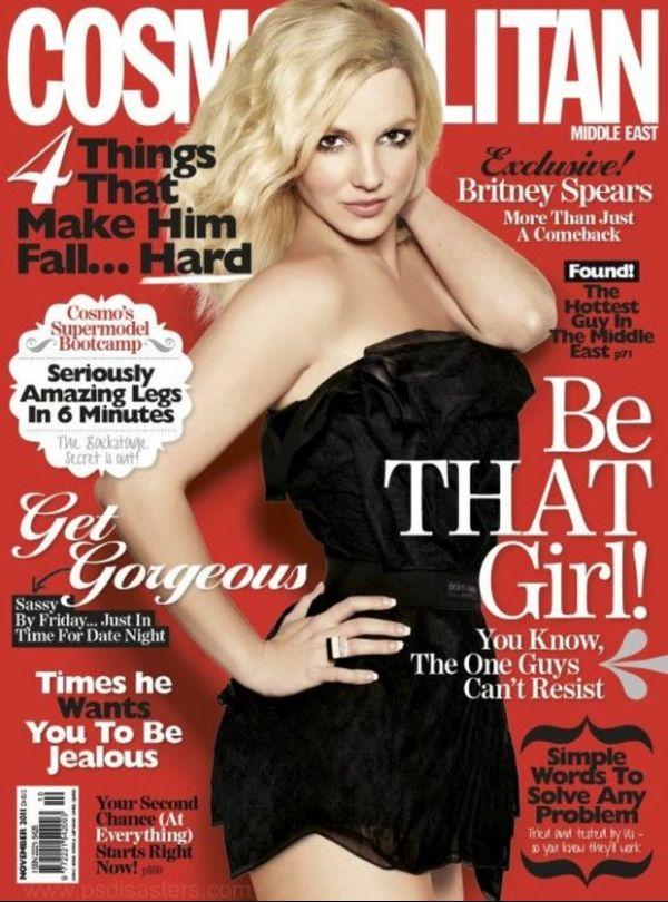 Britney Spears é vítima de erro no Photoshop em capa da revista
