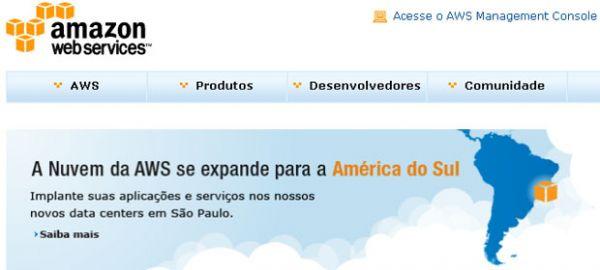 Amazon chega ao Brasil com centros de dados para serviço na
