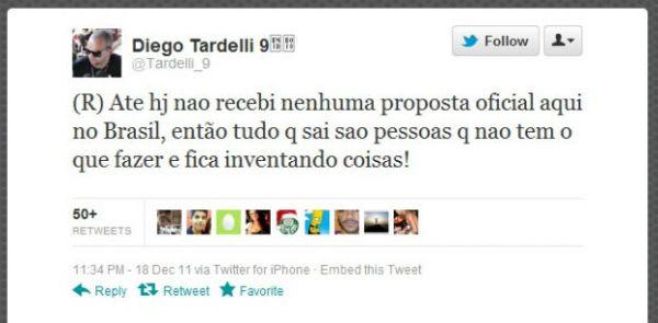Tardelli diz que ainda não recebeu propostas para retornar ao Brasil