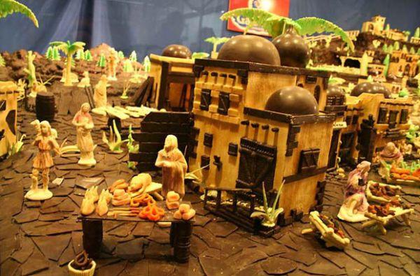 Espanhóis dizem que fizeram maior presépio de chocolate do mundo