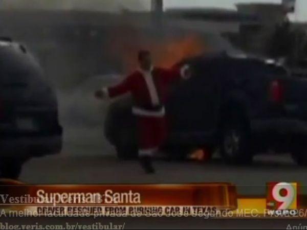 Papai Noel salva motoristas após acidente no Texas