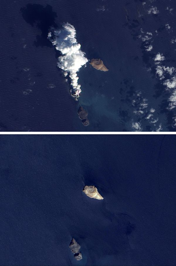 Satélite da Nasa capta formação de ilha no Mar Vermelho, perto do Iêmen