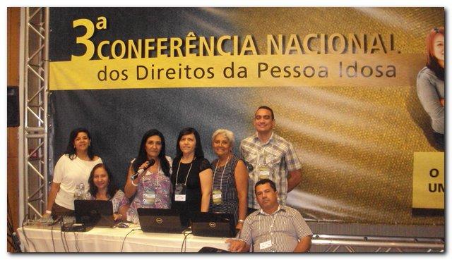 Inhuma participa da III Conferência Nacional dos Direitos da Pessoa Idosa