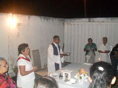 Eva Abreu é contemplada pelo Sagrado Coração de Jesus com Santa Missa em sua residência
