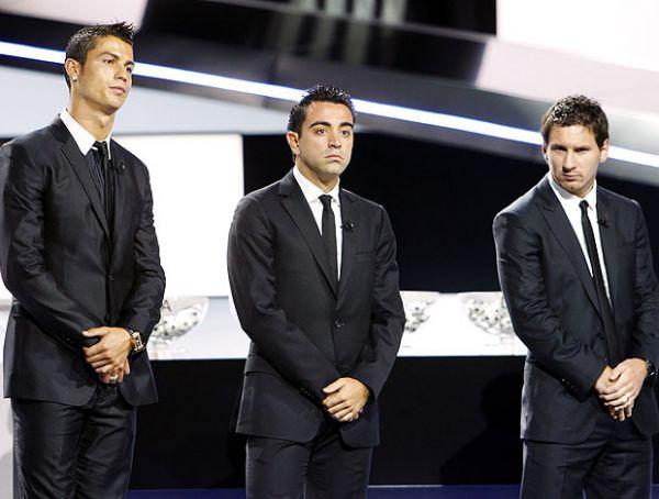 CR7, Messi e Xavi brigam pela Bola de Ouro. Neymar fica fora do top 3
