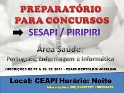 Preparatório para concurso público da Saúde
