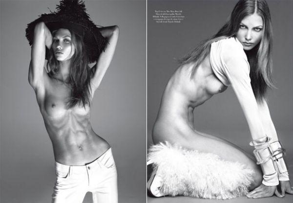 Revista retira de seu site foto de modelo magra em excesso