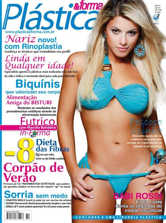 Panicat Babi Rossi está na capa da revista