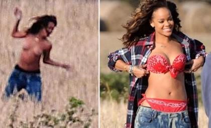 Fazendeiro obriga Rihanna se vestir em gravação de videoclipe