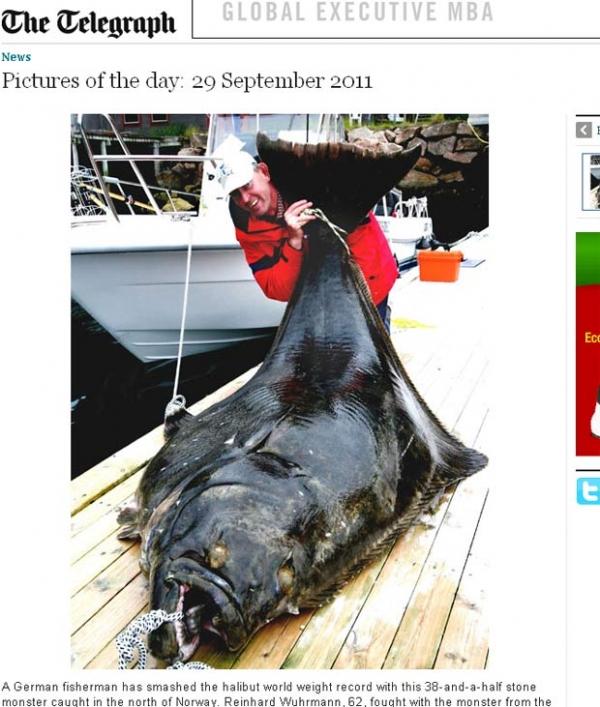 Pescador alemão pega