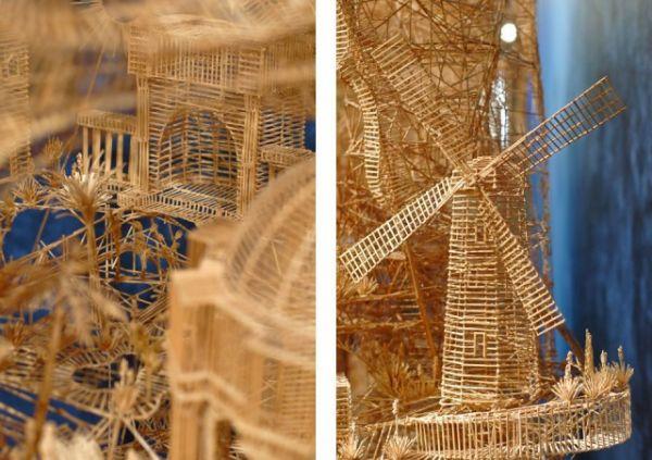 Usando 100 mil palitos, artista norte-americana cria miniatura da cidade de San Fracisco, EUA