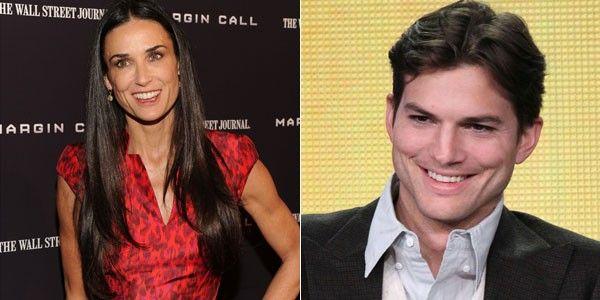 Demi Moore e Ahton Kutcher se viram pela primeira vez após o divórcio