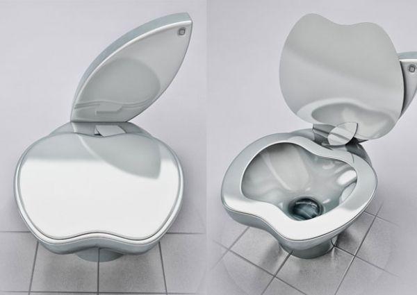 Designer cria privada no formato de maçã para homenagear Apple
