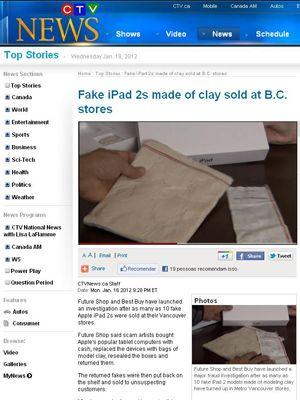 Clientes compram iPad e recebem argila em lojas do Canadá