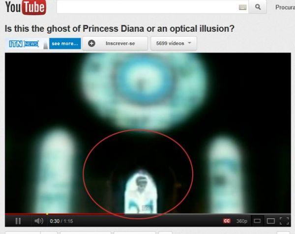 Vídeo que mostraria fantasma da princesa Diana é investigado, diz TV