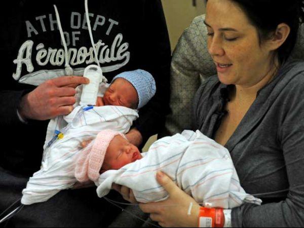 Gêmeos nascem em anos diferentes nos EUA