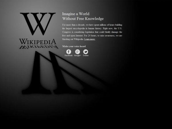Apagão da Wikipédia vira piada e tuiteiros criam fatos bizarros