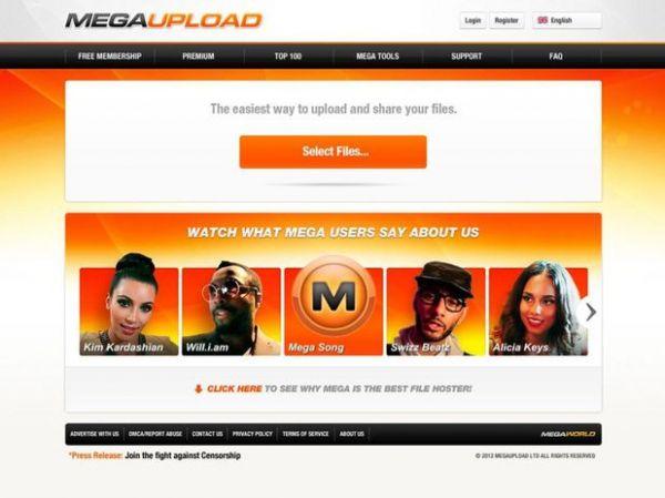 Brasileiros eram 2° lugar entre os que mais usavam Megaupload