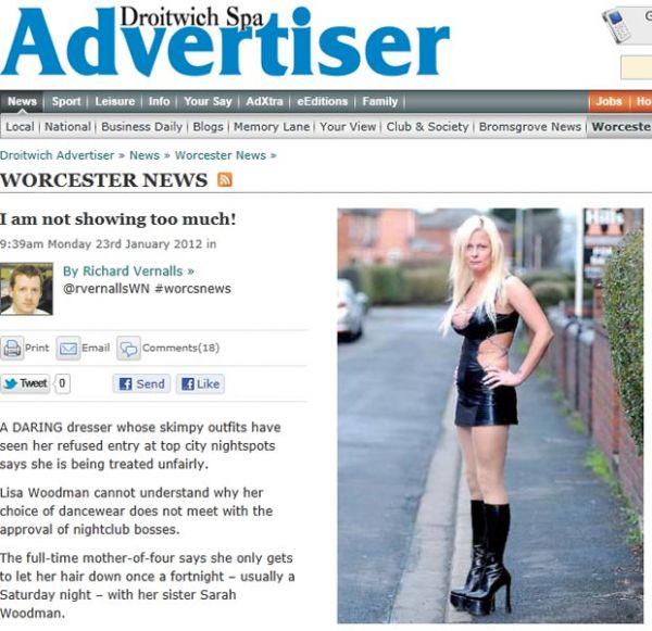 Após ser barrada em boates por conta da roupa, britânica vira ?vampira sexy?
