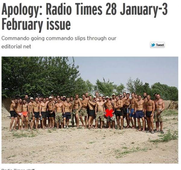 Revista britânica pede desculpas após exibir pênis de fuzileiro naval