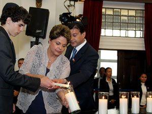 Dilma participa de homenagem às vítimas do holocausto