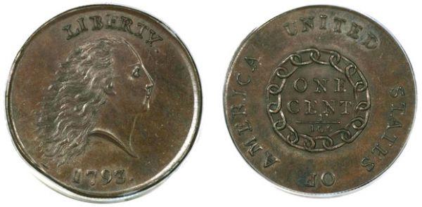 Moeda rara de 1793 é vendida por  US$ 1 milhão nos EUA