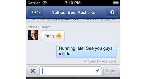 Facebook apresenta novo aplicativo de mensagens para iOS