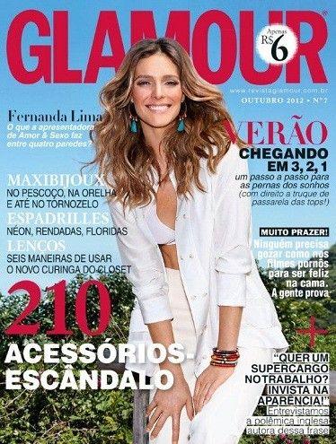 Fernanda Lima posa para a revista Glamour e ganha homenagem
