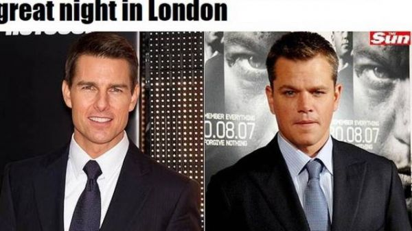 Tom Cruise e Matt Damon levam tapa de travesti em boate de Londres
