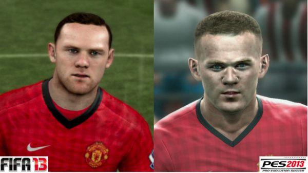 Fotos comparam rostos dos jogadores em Fifa 13 e PES 2013