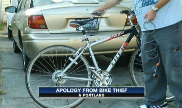 Ladrão devolve bicicleta com carta com pedido de desculpa e US$ 10