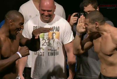 Na categoria de cima, Anderson Silva fica 1,8 kg abaixo do limite de peso