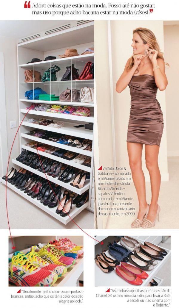 O closet dos sonhos de Ticiane Pinheiro