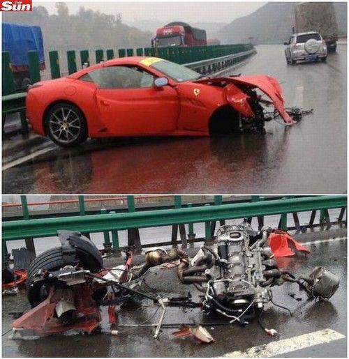 Batida de Ferraris causa prejuízo de mais de R$ 1 milhão