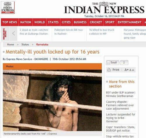Indiano foi feito refém pela própria mãe por 17 anos dentro de quarto