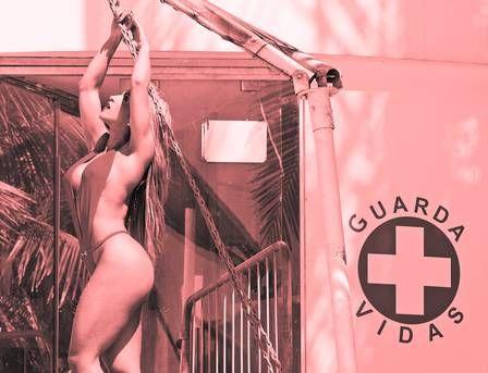 De maiô ?engana mamãe?, Peladona do Posto vira musa dos salva-vidas: ?Sou periguete elegante?