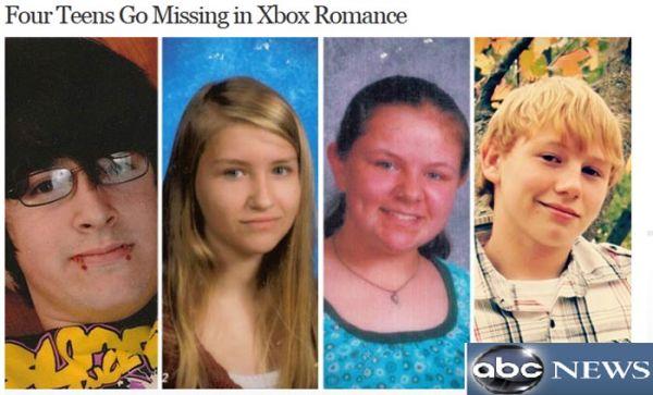 Quatro jovens estão desaparecidos após combinar fuga em jogo de videogame