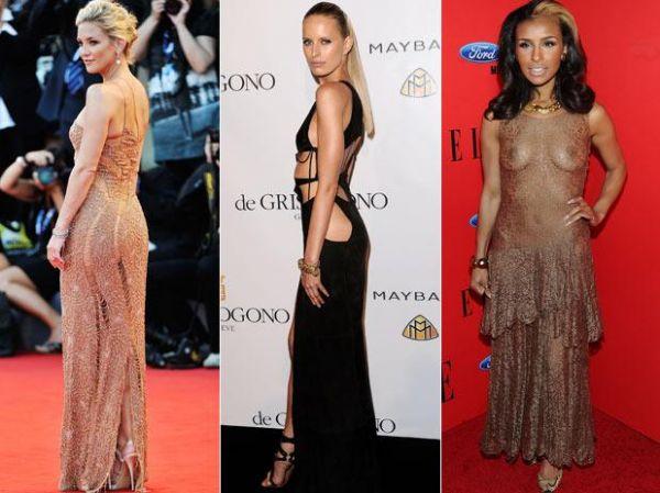 Com vestidos ousados, famosas passam do sexy ao vulgar