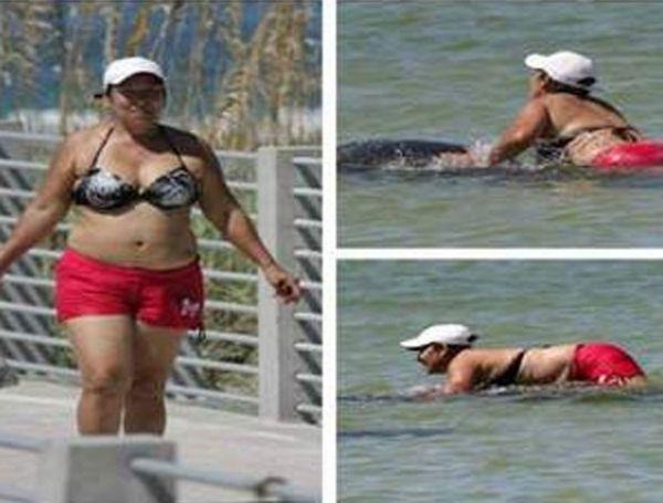 Mulher pode ser presa na Flórida após deitar sobre peixe-boi