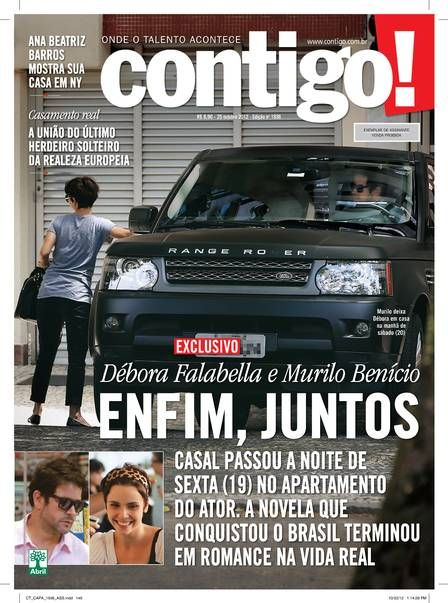 Débora Fallabela e Murilo Benício passam noite na casa do ator