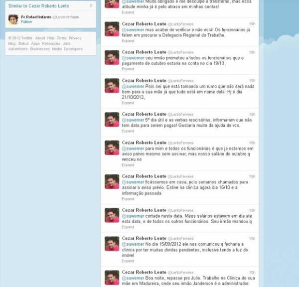 Seguidor usa Twitter de Susana Werner para cobrar salário atrasado