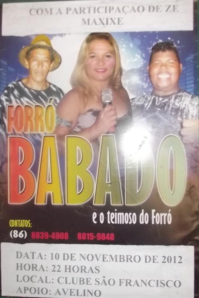 Forró Babado na localidade São Francisco em Alto Longá Piauí.