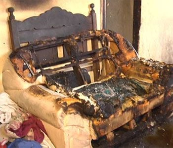 Mulher embriagada tem 90% do seu corpo queimado em incêndio