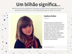 Estudante de SC fará campanha de 1 bi de usuários do Facebook