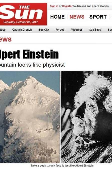 Site compara montanha a Albert Einstein. Concorda?