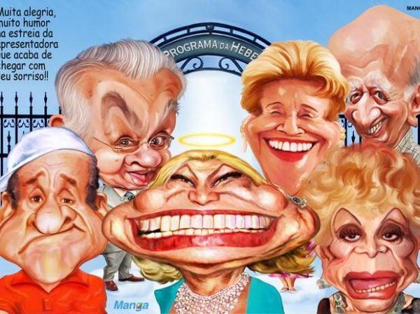 Hebe Camargo vira caricatura em exposição inédita em SP