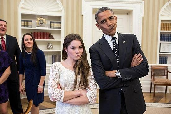 Foto de Obama com cara de