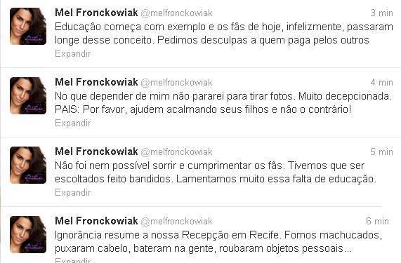 Cantores de Rebeldes são agredidos por fãs na chegada a Recife