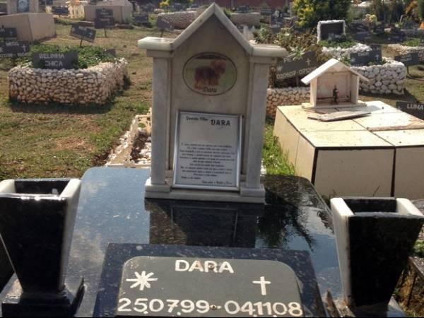 Cemitério animal com túmulos de luxo recebe visitantes em Finados