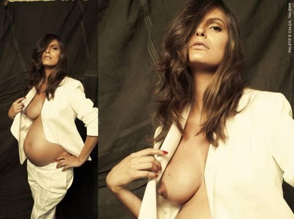 Grávida, Carol Francischini divulga nova foto de lingerie